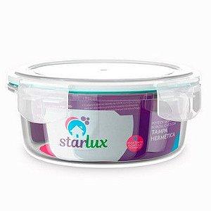 Starlux Ud Pote de Vidro Redondo com Tampa Hermetica 400ML com 1 Unidade