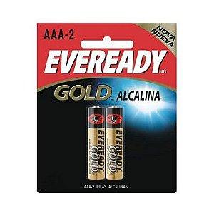 Pilha Eveready Alcalina Gold Palito AAA2 12 Cartelas Com 2 Unidades