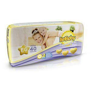Isababy Fralda Premium Mega XG 6 Pacotes Com 40 Unidades