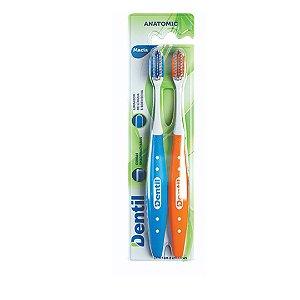 Escova Dentil Anatômica Macia 12 Pacotes com 2 Unidades