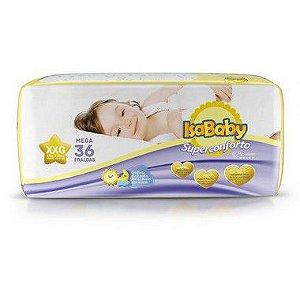 Isababy Fralda Premium Mega XXG 6 Pacotes Com 36 Unidades