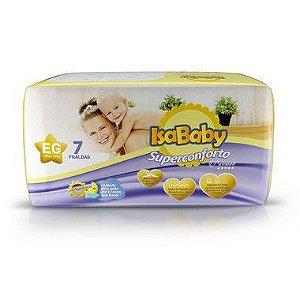 Isababy Fralda Premium Regular EG 16 Pacotes com 7 Unidades