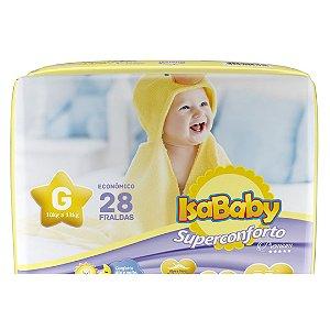 Isababy Fralda Premium Jumbo G Econômico 8 Pacotes Com 28 Unidades