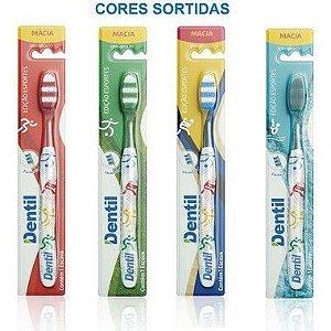 Escova Dentil Flex Esportes Macia 12 Unidades