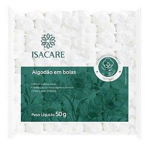 Isacare Algodão Bola 12 Pacotes Com 50G