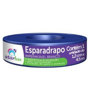 Starlux Esparadrapo Impermeável Branco 1,2CMX4,5MT Com 12 Unidades