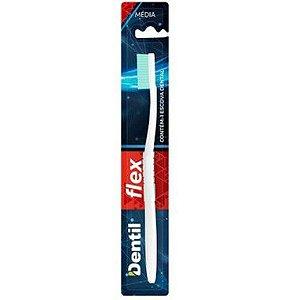 Escova Dentil Flex Média 12 Unidades