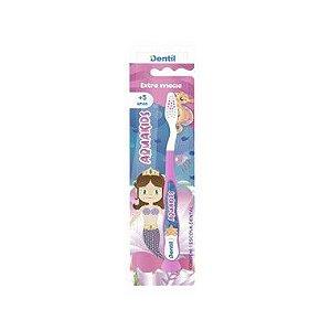 Escova Dentil Infantil Aquakids Macia Rosa 12 Unidades