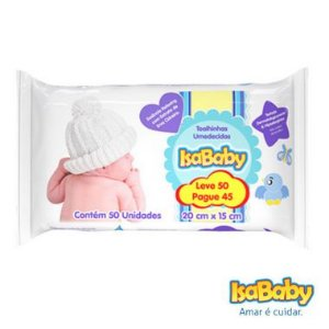 Isababy Toalha Umedecida Promo Leve 50 Pague 45 - 24 Pacotes Com 50 Unidades