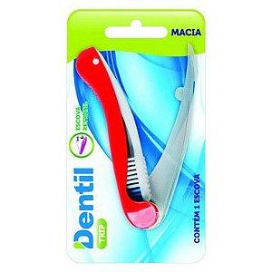 Escova Dentil Viagem Trip Dobrável 12 Unidades
