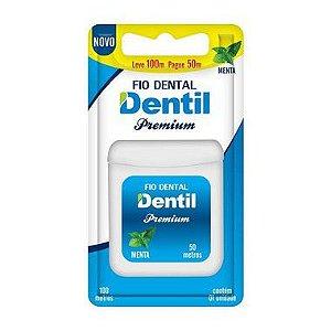 Fio Dental Dentil Premium Leve 100 Pague 50M 12 Unidades