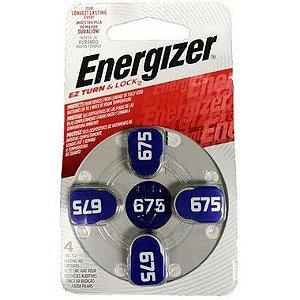 Pilha Energizer Audiologica AZ 675 6 Cartelas Com 4 Unidades
