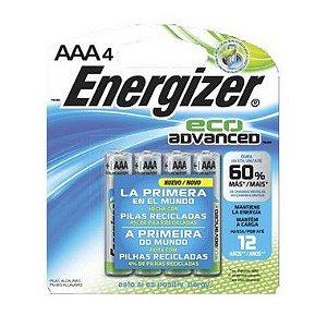 Pilha Energizer Eco Advanced Palito AAA4 1 Cartela Com 4 Unidades