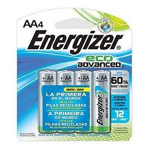Pilha Energizer Eco Advanced Pequena AA4 1 Cartela Com 4 Unidades