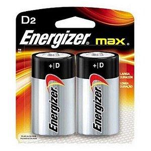 Pilha Energizer Max-Sm Grande D2 12 Cartelas Com 2 Unidades