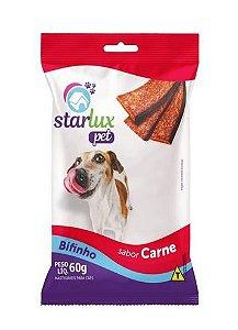 Bifinho Mastigável 60G Sabor Carne 1 Unidade Starlux Pet
