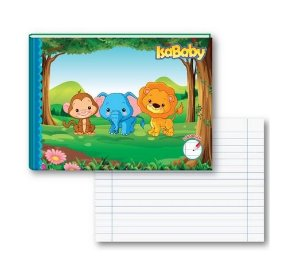 Caderno Pedagógico 1/4 CD Linguagem 40F 10 Unidades Isababy Zoo
