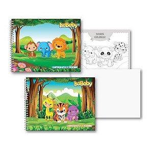 Caderno Cartografia CD 96F - 5 Unidades Isababy Zoo