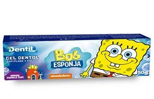 Creme Dental Kids Bob Esponja Buble Gum 12 Unidades 50G Dentil