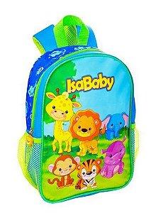 """Mochila Infantil Azul T12"""" 1 Unidade Isababy Zoo"""