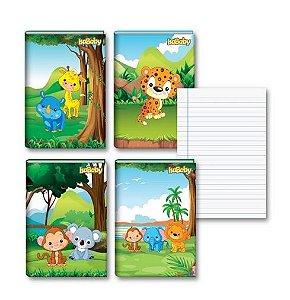 Caderno Univesitário CD Costurado 48F 10 Unidades Isababy Zoo