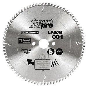 Serra Circular Freud 250 mm X 80 z para Alumínio LP80M001