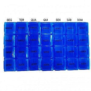Porta Comprimidos BodyFlex 28 Dias Azul