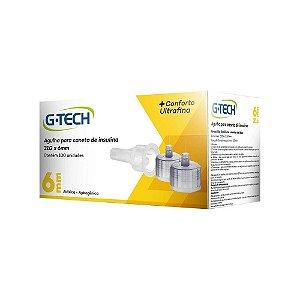 Agulha para caneta de insulina G-Tech 6mm 31g Caixa com 100