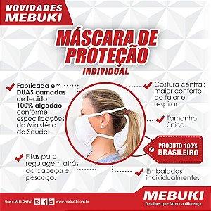 Máscara de Proteção Individual Algodão Reutilizável Mebuki