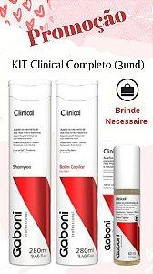 kit Clinical (Shampoo 280ml e Balm 280ml) + Tônico Capilar 60ml Grátis + Brinde