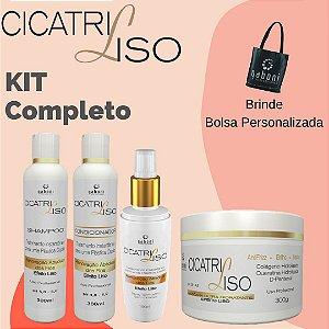 Kit Gaboni Cicatriliso (Spray+Mascara+Shampoo+Condicionador) Brinde Bolsa