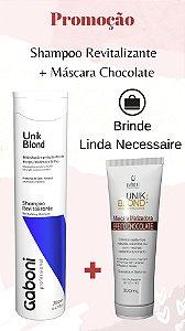 Kit Gaboni Shampoo Revitalizante 280ml + Máscara Matizadora Chocolate 300ml + Brinde Necessaire
