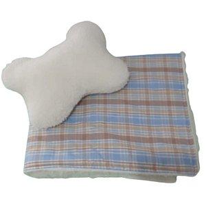 Cobertor para Cachorro com travesseiro Estampa Outback Blue