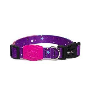 Coleira e Guia para Cachorro Stars Pink