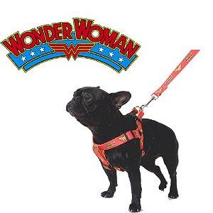 Peitoral para cachorro da Mulher Maravilha