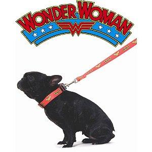 Coleira para cachorro da Mulher Maravilha