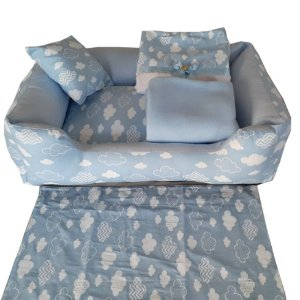 Enxoval para cachorro Cotton Cloud Blue