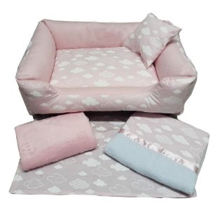 Enxoval para cachorro Cotton Cloud Pink