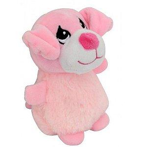 Brinquedo para pet Bezerrinho de Pelúcia Rosa HomePet