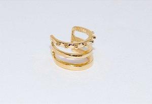 Piercing Triplo Espinhos - Gold