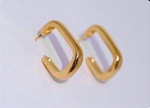 Brinco Argola Quadrada M - Gold