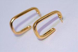 Argola Quadrada G - Gold