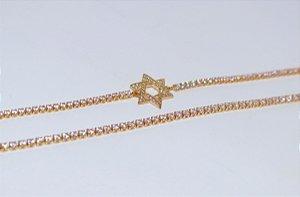 Pulseira Riviera Estrela de Davi - Gold