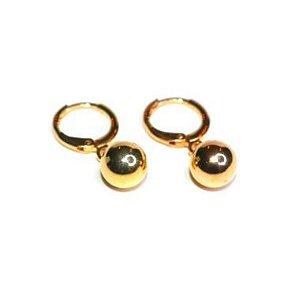 Argola Esfera - Gold