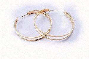Argola Double Iris G - Gold