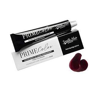 Prime Color 55.62 Castanho Claro Vermelho Violeta Ameixa - Coloração Profissional 60g