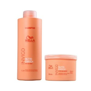 Wella Invigo Nutri-Enrich Shampoo 1L + Máscara 500g