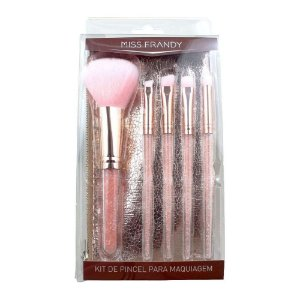 Miss Frandy Kit de Pincel Rose Para Maquiagem
