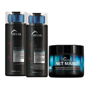 Truss Miracle Sh 300ml + Cd 300ml + Net Mask 550g