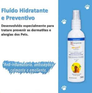 Fluído Hidratante e Preventivo Alerpet para Dermatite Atópica Cães e Gatos - Alergoshop - 240ml